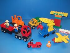 Lego Duplo Bundle vehicles,crane lorry ,train plane,motorbike figure & vehicles