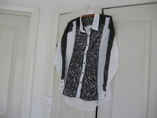 Viscose Collared Button Down Shirt Tops & Blouses for Women