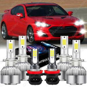 For 2013-2016 Hyundai Genesis Coupe - 6x Combo LED Headlight Fog Light Bulbs Kit