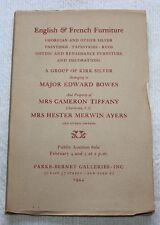 MRS CAMERON TIFFANY Property, PARKE-BERNET GALLERIES NY, 1944 Catalog #526
