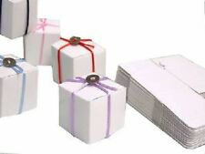 """50 Wedding Favor Boxes White Glossy Finish 2""""x2""""x2"""" Candy Chocolate Gift Box NEW"""