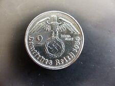 Pièce ALLEMAGNE GERMANY DEUTSCHLAND 2 M DEUTSCHES REICH 1939 SILVER ARGENT