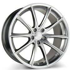 """New-4 19"""" Ace Alloy Wheels Convex Hyper Silver with Machined Rims and Tires PKG"""