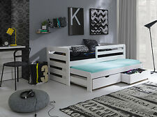 WHITE- WOODEN CAPTAINS BED 3ft ,GUEST, WITH MATTRESSES AND STORAGE DRAWERS