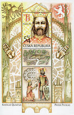 Czech stamp sheet MNH 2016 Charles IV, Holy Roman Emperor and Czech King Histor.