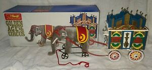 Steiff Golden Age Of The Circus In Box, Elephant & Musical Wagon, #0100/86