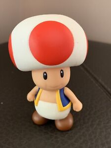 Super mario bros brothers Toad red mushroom 9 cm tall figures