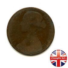 A British Bronze 1874 H VICTORIA PENNY Coin (Heaton)             (Ref:1874_43/4)
