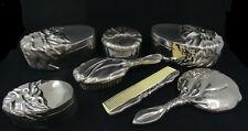 More details for godinger art nouveau style silver plated vanity set       sh26