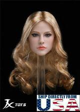 "1/6 American Female Head Sculpt Avril For 12"" Hot Toys PHICEN TBLeague Figure"