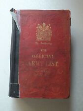 More details for the official army list for the quarter ending 30th june 1912