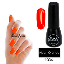 MAX 7ml Nail Art Color UV LED Soak Off Gel Polish #036-Neon Orange