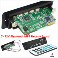 New 7~12V Car Handsfree Bluetooth MP3 Decode Board w/Bluetooth Module+FM