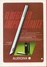Paginetta pubblicitaria Advertising Werbung 1975 Thesi AURORA