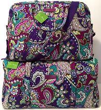 Vera Bradley HEATHER WEEKENDER & LARGE DUFFEL Bag Luggage Travel Set NWT