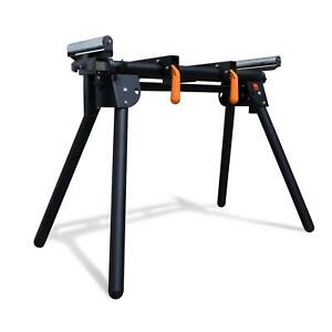 Wen Miter Saw Stand Adjustable Support Sliding Arm 69 in 750 Lb Capacity Steel
