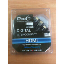 PRO AV DIGITAL INTERCONNECT HDMI CABLE 2 METER INCLUDES SWIVEL ADAPTER