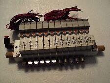 SMC 3 PORT AIR SOLENOID VALVES 10-SYJ324R-5LZ-X16  (12 Valves and Manifold Assem