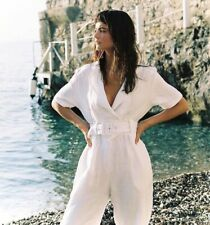 NWOT Sir The Label Noeme White Linen Jumpsuit 0