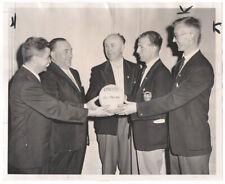 Vintage 1962 Irish Soccer Wire Photo, Paddy Doherty, Chicago Mayor Richard Daley