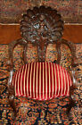 Early 20th Century Italian Mahogany Figural Shell Carved Occasional Chair