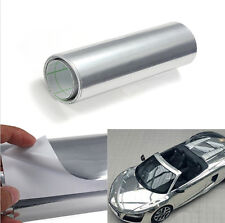 Silver Chrome Mirror Vinyl Wrap Sticker Bike Car Decal Exterior Styling New