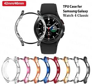 Case Cover For Samsung Galaxy Watch 4 Classic 42mm 46mm TPU Protector Bumper