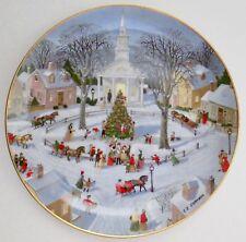 1990 Danbury Mint Christmas Tree Lighting Collector Plate