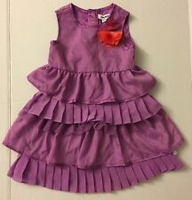DKNY Girls Sleeveless Whimsy Pink Ruffle Iris Orchid Dress 24M Infant NWT