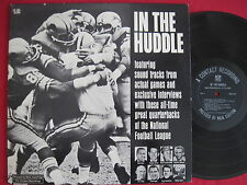 IN THE HUDDLE - RARE NFL FOOTBALL LP RCA CUSTOM RECORD BART STARR JOHNNY UNITAS