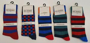 NEW Ben Sherman Fine Mercerised Cotton Dress Socks EU 40.5 - 46 - Uk 7 - 11
