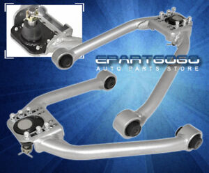 For 03-09 350Z Z33 G35 Vq35 Adjustable Front Camber Control Arm Kit Set Silver