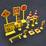 Mini Construction Traffic Sign Scene 5/10pcs Roadblock Toys Cute Chidren Gifts