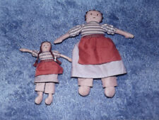 Vtg NIP Two Americana Folkart Rag Dolls SEWING EMBROIDERY KIT Calico Cotton NEW