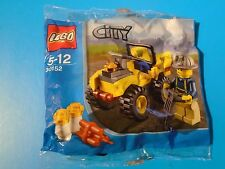 Lego 30152 CIty Mining Quad with Minifigure  Brand New Sealed Polybag