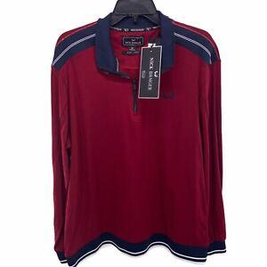Nick Danger NWT Men's Size XL Premium Flex Fit Long Sleeve 1/4 Zip Shirt