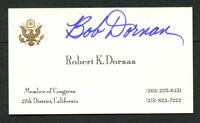Robert 'Bob' K. Dornan signed autograph Member of Congress Business Card BC581