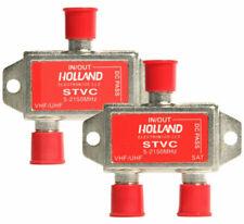 NEW LOT OF (2) Pcs HOLLAND STVC 5-2150MHz DIPLEXER Directv Dish Network FTA OTA