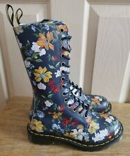 DR MARTENS DARCY 14 HOLE FLORAL BOOTS WITH ZIP , SIZE EU 36 UK 3 , BNWOB