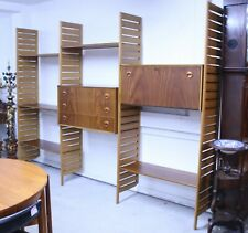 RARE STAPLES LADDERAX SHELVING UNIT BOOKCASE DISPLAY SYSTEM WITH ROUND HANDLES