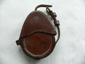 WW1 BRITISH OFFICERS MARCHING COMPASS LEATHER CASE +STRAP DATED 1916
