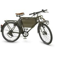 MO-93 Military Bicycle 7-Speed Swiss Military Surplus Army Collectible w/ Lights