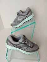 Saucony Women's Cohesion12 Versafoam Grey-Teal Hiking Running Shoes. Sz 7.5 #710