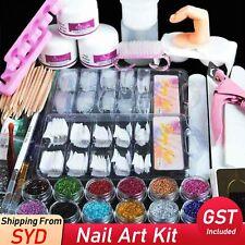 Full Set DIY Acrylic Nail Art Kits Acrylic Powder and Liquid Glitter Manicure AU