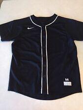 Nike boys baseball jersey M med black Guc