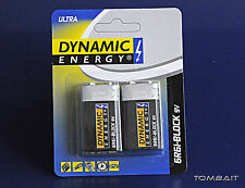 2 x Dynamic Energy 6r61 9v blocco batterie batteria universale batterie blocco