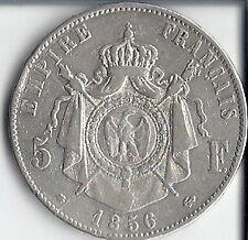 RARE 5 FRANCS NAPOLEON III EMPEREUR DE 1856/BB