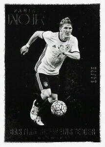2016-17 PANINI NOIR SOCCER Bastian Schweinsteiger Germany Black & White Base /75