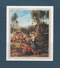 Congo république bloc  peintre Rubens  1978 num: BF 14 **