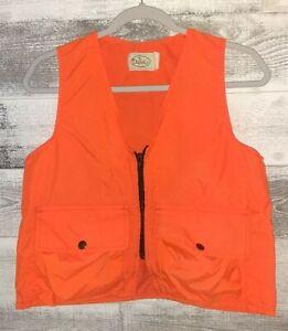 Orange Hunting Fishing Working Utility Vest Size Youth Large  (Women's Medium)